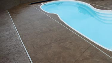 9---stained concrete pool deck